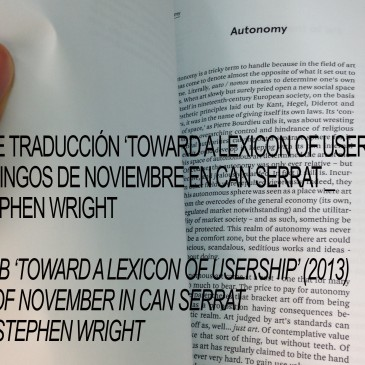 "Translation LAB_""Toward a Lexicon of Usership"" (2013), Stephen Wright"