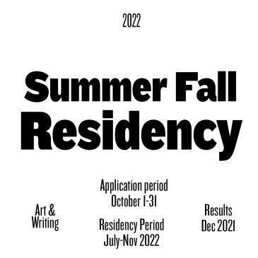 SUMMER-FALL 2022_ RESIDENCY OPEN CALL_CONTEMPORARY ART